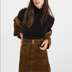 madewell corduroy a line mini skirt